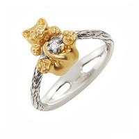 Золотое кольцо с бриллиантом ИА10520