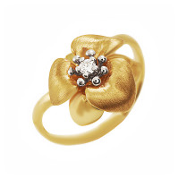 Золотое кольцо с бриллиантом ИА10980