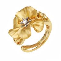 Золотое кольцо с бриллиантом ИА11313