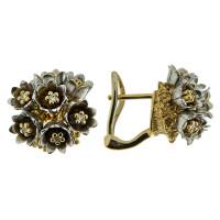 Золотые серьги с бриллиантами ИА20210