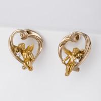 Золотые серьги с бриллиантами ИА20430