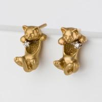 Золотые серьги гвоздики с бриллиантами ИА20520