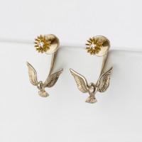 Золотые серьги гвоздики с бриллиантами ИА20570