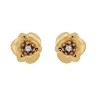 Золотые серьги гвоздики с бриллиантами ИА20980