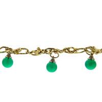 Золотой браслет с бриллиантами и хризопразами ИА51280