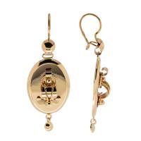 Золотые серьги подвесные КК0016