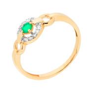 Золотое кольцо с изумрудом и бриллиантами ЮЫ2002800023530
