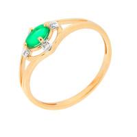 Золотое кольцо с бриллиантами и изумрудом ЮЫ2002800023525