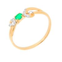 Золотое кольцо с изумрудом и бриллиантами ЮПК1331716из