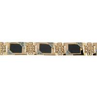 Золотой браслет мужской с ониксами и фианитами РЫ4001450